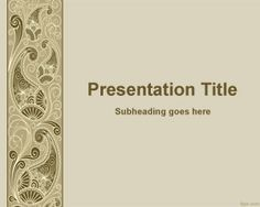 Decorative PowerPoint template is a free PowerPoint template for decoration and decorate your presentations