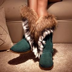 women shoes women boots Quality wool and fur in one snow boots princess rabbit fur fox fur warm boots-in Boots from Shoes on Aliexpress.com