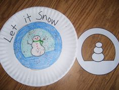 Snowman Paper Plate Stencil from Making Learning Fun