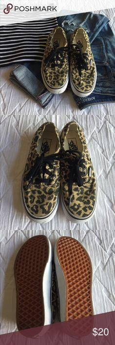 Leopard vans Leopard vans, women's size 7.  Great condition, worn once. Vans Shoes Sneakers
