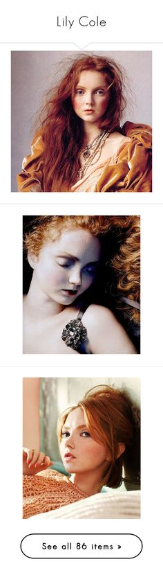 """Lily Cole"" by bambolinadicarta-1 ❤ liked on Polyvore featuring lilycole, people, lily cole, models, pictures, celebrities, backgrounds, faces, photo and bodies"