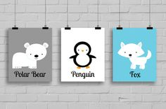 Hey, I found this really awesome Etsy listing at https://www.etsy.com/listing/203723340/nursery-prints-arctic-wall-art-great