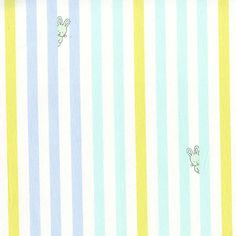 Michael Miller Bunny Stripe Blue Quilting Fabric