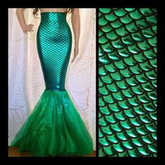 High Waisted Fish Scale Green Sexy Mermaid by SPARKLEmeGORGEOUS