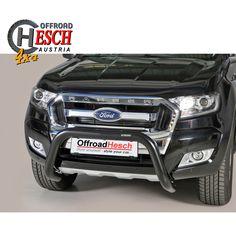 Frontschutzbügel Ford Ranger, Edelstahl matt schwarz Ford Ranger, Offroad, Nissan Navara, Car, Stainless Steel, Black, Off Road, Automobile, Vehicles