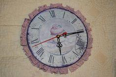 """Купить Часы """"Кружевные"""" с капкейком - комбинированный, нежный, шебби-шик, шебби шик, шебби"""