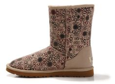 UGG Boots 5875 Sandy Bungundy Flowers