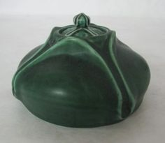 Rookwood Inkwell ca. 1903. Wonderful lines glaze and color.  Yes.....I'm sold on Rookwood.