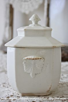 Antique sucrièr, from the side My little white home by Nadine