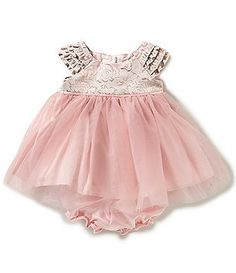 Laura Ashley London Baby Girls Newborn-24 Months Metallic-Embroidered Bodice Sheer-Overlay-Skirted Dress