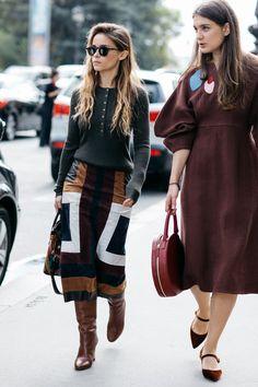 Inspiração de Estilo / Paris Fashion Week; Mira Duma; bold neutrals