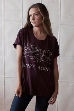 Happy Alone loose tee