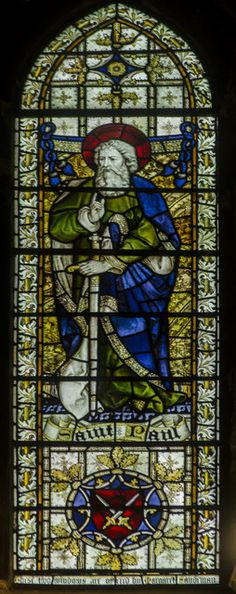 Stained glass window, Christ church, St Leonards, Hastings