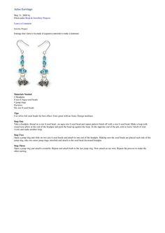 aztec earrings tutorial