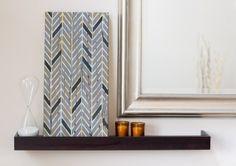 DIY Canvas Wall Art by Life in Velvet    Herringbone Stencil   Royal Design Studio
