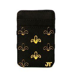 JT Magic Wallet Color: Black and Golden #couro #bordado #fashion #accessories #moda #style #design #acessorios #leather #joicetanabe #carteira #carteiramagica #courolegitimo #wallet