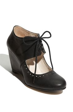 All Black Open Vamp Wedge Oxford available at #Nordstrom