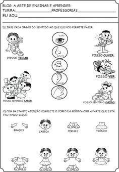 Atividades Orgãos do sentido e Corpo humano