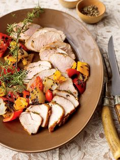 Grilled Pork with Onion & Pepper Relish - FamilyCircle.com
