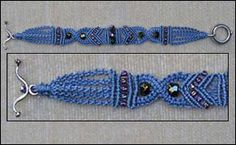 WOW LOVE THIS Criss Cross Macrame' Bracelet at Sova-Enterprises.com This comfortable bracelet takes four knots and a few sparkling beads. Take your time and it is a relaxing intermediate project.