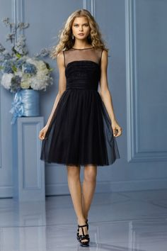 Shop Tulle Scoop Neckline Knee Length Princess  Ruffled Black Online affordable for each occasion. Latest design party dresses and gowns on sale for fashion women and girls.