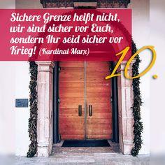 ZItat zum Advent von Kardinal Marx, Kirchentüre:  Dom St Martin Rottenburg in Baden-Württemberg