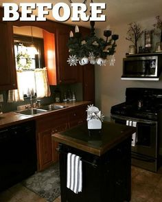 You have to see this stunning makeover!  Kitchen farmhouse makeover Hometalk Partner #kitchenmakeover