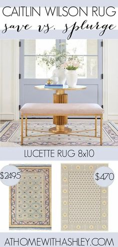 Caitlin Wilson Rugs on a budget. Need one of these gorgeous rugs but can't afford it? I share how to find a look alike or dupe. Perfect for the living room, bedroom, or kitchen! Love the Kismet or Jolie or Celine? I've found similar options in coral, navy, grey, blue, and pink. E Design, Interior Design, Coral Navy, Cozy Room, Love Home, Large Homes, Home Hacks, Frugal Living, Types Of Fashion Styles