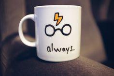 Harry Potter Mug, Cute Mugs,   Hand Painted Gift, Tea Coffee Ceramic Cup,