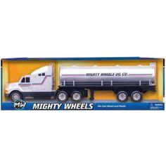 26 inch Die Cast Oil Tanker Transport, Silver