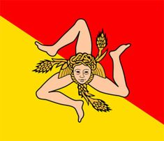 The Sicilian flag, between history and mythology http://www.scentofsicilyblog.com/sicilian-culture/the-sicilian-flag-history-and-mythology/