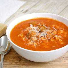 homemade spaghetti-o's with meatballs