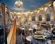 The Oval Room at The Fairmont Copley Plaza is a stunning and romantic wedding reception venue