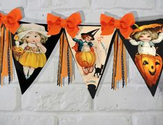 Halloween banner by Raidersofthelostart  -  Halloween  ephemera you love?  GREAT idea turn it into banners you will love and enjoy!