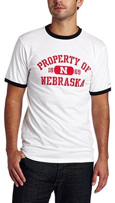2a7b1af3cec7 Makes a great gift for your Nebraska Cornhuskers Fan! This classic ringer  styled T-Shirt is white with Nebraska ...