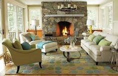 Image result for living rooms with fireplaces
