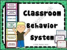 Class Behavior System (Class Chart, Calendars, Notes to Parents) from Chantal Gunn on TeachersNotebook.com -  (24 pages)  - Classroom Behavior System: notes to parents, behavior calendars, class chart- Perfect classroom management!! :-)