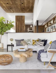A Modern and Organic Living Room Makeover