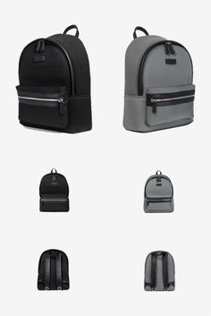 Black and grey are central to the notion of minimalism. These backpacks are  crafted with 9181d9e5c3283