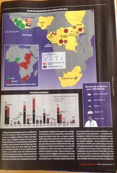 Distribution géographique des cas #Ebola :1976-2014 ( Alternatives internationales No 64 septembre 2014 )