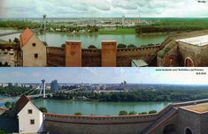 Panoramatický pohľad z Hradu na Petržalku. Bratislava, Mansions, House Styles, Home Decor, Decoration Home, Manor Houses, Room Decor, Villas, Mansion