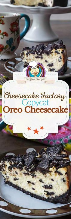 Do you love the Cheesecake Factory Oreo Cheesecake? You can recreate this famous cheesecake dessert recipe with this copycat. The crust is make from Oreo cookies! Recreate the famous Oreo Cheese from the Cheesecake Factory at home. Brownie Desserts, Mini Desserts, Cheesecake Desserts, Just Desserts, Delicious Desserts, Dessert Recipes, Yummy Food, Yellow Desserts, Pumpkin Cheesecake
