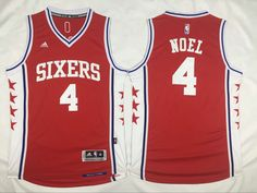a81cf665a20a Philadelphia 76ers  4 Noel Red Men 2017 New Logo NBA Adidas Jersey Soccer  Jerseys