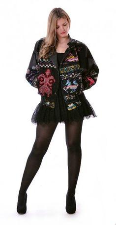 Tapestry & Leather Bomber Jacket   Damsel Vintage