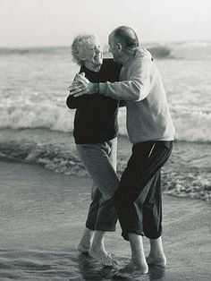 I always love to see old couple,  happy and being in love together.