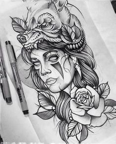 new Ideas for neo traditional tattoo design indian Neue Tattoos, Body Art Tattoos, Sleeve Tattoos, Hand Tattoos, Diadem Tattoo, Tattoo Indien, New Traditional Tattoo, American Traditional, Traditional Tattoo Drawings