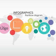 Infographics rainbow diagram