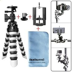 Fantaseal DSLR Camera Action Cam Smartphone Robust Octopus Tripod 3-in-1 Flexible Gorillapod for iPhone Samsung Canon Nikon Camera/Comcorder GoPro Hero 5 / 4 / Hero 3 / GoPro Hero / GoPro HeroLCD / TomTom Bandit / Sony AS300R / X3000R / Nikon KeyMission 360 / KeyMission 170 / KeyMission 80 / Kodak SP360 / Samsung Gear 360 / Olympus Stylus Tough TG-Tracker / Drift GHOST-S / Stealth 2 / R Fantaseal Smartphone Gorillapod KeyMission TG Tracker ranks among the best of the best products in P...