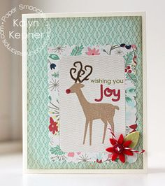 Card by PS DT Kalyn Kepner using PS A Holy Holiday, Scallop Frames, Poinsettia dies