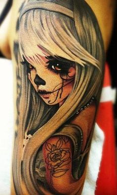 Skull Doll Tattoo « Inked Inspiration. A collection of free tattoo photos, pictures and design ideas